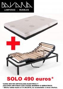 Muebles. Combo canape colchon articulado