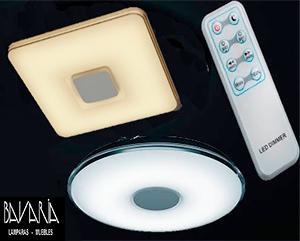 Lamparas Plafon LED Redondo Cuadrado-50W